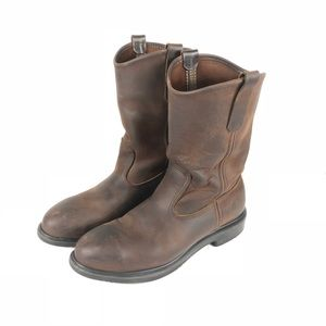 Red Wing Pecos Steel Toe Leather Boots